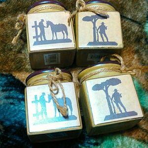 Other - Set of 4 cowboy, western decor tea light